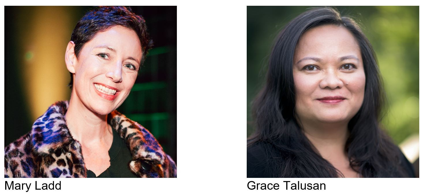 Mary Ladd and Grace Talusan